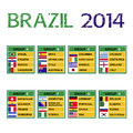Brazil cup soccer tournament football Royalty Free Stock Images