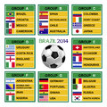 Brazil cup soccer tournament football Royalty Free Stock Photography