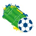 Brazil design over background vector illustration Royalty Free Stock Photography