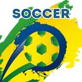 Brazil design over white background vector illustration Stock Photos