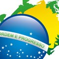 Brazil design over white background vector illustration Stock Images