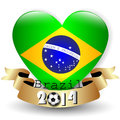 Brazil flag football on a white background Royalty Free Stock Photos
