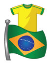 Brazil flag jersey Stock Photography
