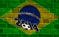 Brazil flag, soccer 2014 Royalty Free Stock Photo