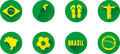 Brazil Flat Icon Set Royalty Free Stock Photo