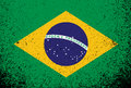 Brazil grunge flag banner illustration design graphic Royalty Free Stock Images