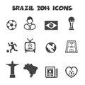 Brazil icons mono vector symbols Stock Photos