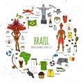 Brazil icons set Royalty Free Stock Photo