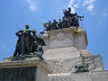 Brazil independence monument an imposing celebrating the of Royalty Free Stock Photos