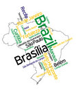 Brazil map and cities Royalty Free Stock Photo