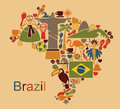 Brazil map Royalty Free Stock Photo