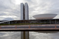 Brazil national congress in brasilia front view of the building during the day Royalty Free Stock Photos