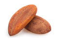 Brazil nuts two on white background Royalty Free Stock Photo