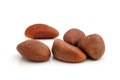 Brazil nuts on a white background Royalty Free Stock Photo
