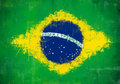 Brazil painted flag grunge and ruined brazilian Royalty Free Stock Image