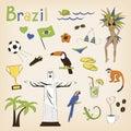 Brazil set Royalty Free Stock Photo