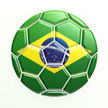 Brazil soccer ball d render Royalty Free Stock Photography