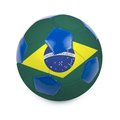 Brazil soccer ball with flag on white Stock Image