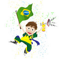 Brazil Sport Fan Stock Images