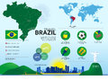 Brazil Travel Infographic Royalty Free Stock Photo