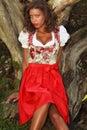 Brazilian beauty in Bavaria Royalty Free Stock Photo