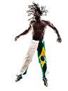 Brazilian black man silhouette one on white background Royalty Free Stock Image