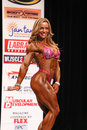 Brazilian bombshell juliana malacarne poses her performance routine ifbb new york physique championships her form carried her to Stock Photography