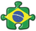 Brazilian button puzzle flag Stock Photography
