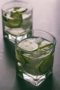 Brazilian cocktail caipirinha, Cachaca, sugar and lime Royalty Free Stock Photo