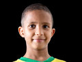Brazilian cute boy isolated on black background Royalty Free Stock Photo