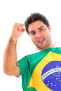 Brazilian Fan Royalty Free Stock Image