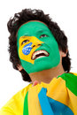 Brazilian flag portrait Royalty Free Stock Image