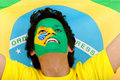 Brazilian flag portrait Royalty Free Stock Photo