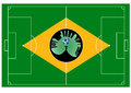 Brazilian football field abstract vector illustration of the brazil Royalty Free Stock Photo