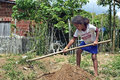 Brazilian girl working in subsistence agriculture brazil bahia entre rios the countryside on the outskirts of the village of conde Stock Photo