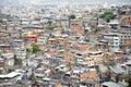 Brazilian Hillside Favela Shantytown Rio de Janeiro Brazil Royalty Free Stock Photo