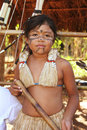 Brazilian indian girl in typical costumes Stock Photography