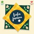Brazilian June Party flag logo Royalty Free Stock Photo