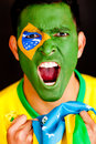 Brazilian man shouting Stock Photos