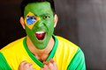 Brazilian man shouting Stock Images