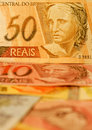 Brazilian money Royalty Free Stock Photo