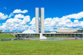 Brazilian National Congress in Brasilia, Brazil Royalty Free Stock Photo