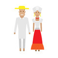 Brazilian national dress illustration of costume on white background Stock Photo
