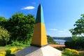 Brazilian obelisk triple frontier brazil argentina paraguay view paraná river Stock Photography