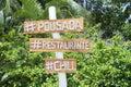 Brazilian pousada sign nordeste bahia beach simple handmade featuring technology hashtags on a remote Royalty Free Stock Photo