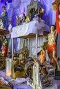 Brazilian religious altar mixing elements of umbanda, candomblé and catholicism Royalty Free Stock Photo