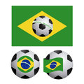 Brazilian soccer over white background vector illustration Royalty Free Stock Image