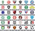 Brazilian soccer teams Royalty Free Stock Photo
