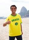 Brazilian Sports Fan At Rio De...