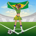 Brazill soccer fan Stock Photography